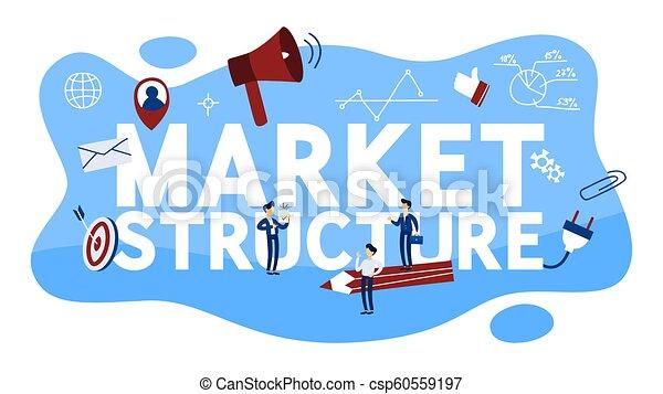 Ilustración De La Estructura Del Mercado Diferentes