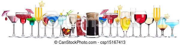 diferente, conjunto, alcohol, bebidas - csp15167413