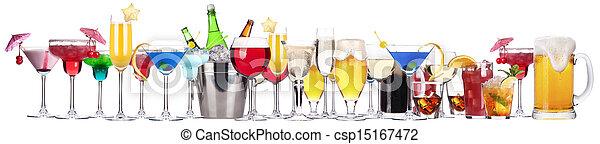 diferente, conjunto, alcohol, bebidas - csp15167472