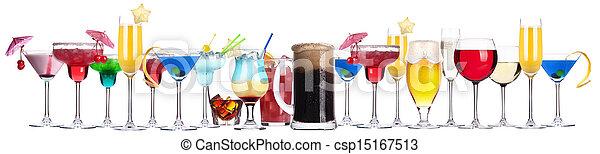diferente, conjunto, alcohol, bebidas - csp15167513