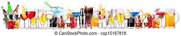diferente, conjunto, alcohol, bebidas - csp15167818