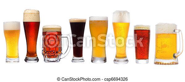 diferente, conjunto, cerveza - csp6694326