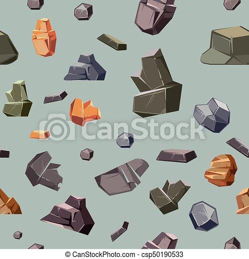 diferente, cores, seamless, textura, pedras - csp50190533