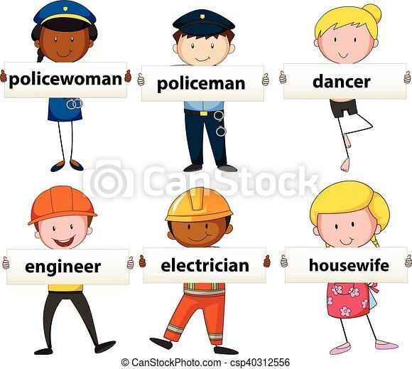 Gente con diferentes ocupaciones - csp40312556