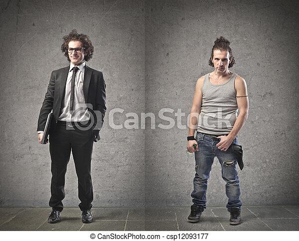 diferente, hombres - csp12093177