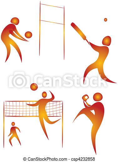 diferente, human, cobrança, arabescos, esportes - csp4232858