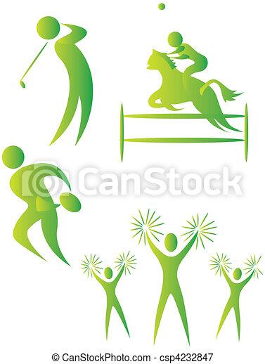 diferente, human, cobrança, arabescos, esportes - csp4232847