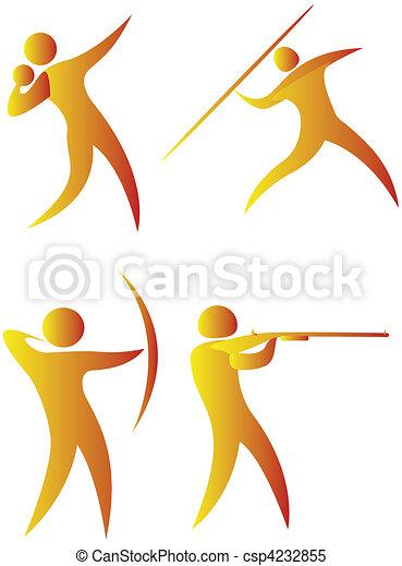 diferente, human, cobrança, arabescos, esportes - csp4232855