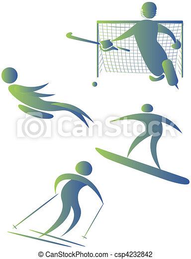 diferente, human, cobrança, arabescos, esportes - csp4232842