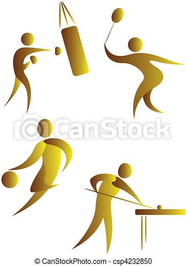 diferente, human, cobrança, arabescos, esportes - csp4232850
