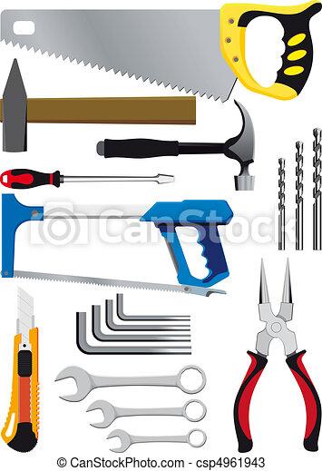 diferente, jogo, ferramentas, mão - csp4961943