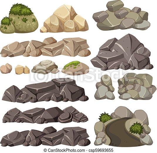 diferente, jogo, pedras - csp59693655