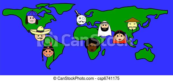 Diferentes nacionalidades - csp6741175