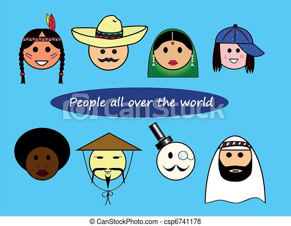 Diferentes nacionalidades - csp6741178