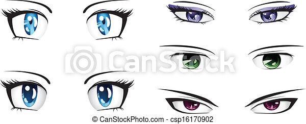 Diferente Olhos Anime Estilo Jogo Olhos Diferente