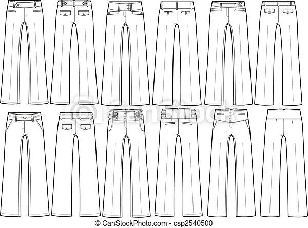 Pantalones de dama formal de diferente estilo - csp2540500