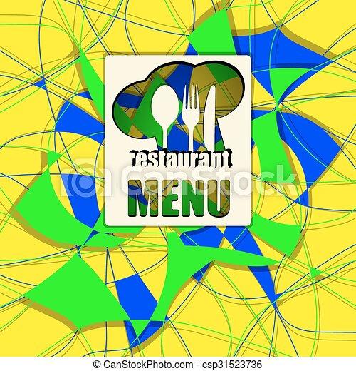 Patrón abstracto para un menú de diferentes colores 3 - csp31523736