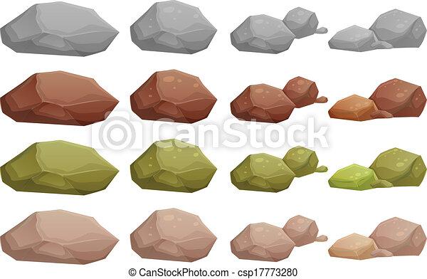 diferente, pedras - csp17773280