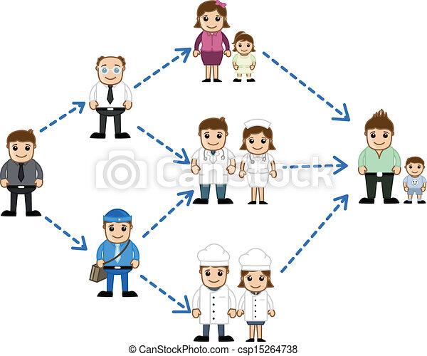 Diferentes personas en la red - csp15264738