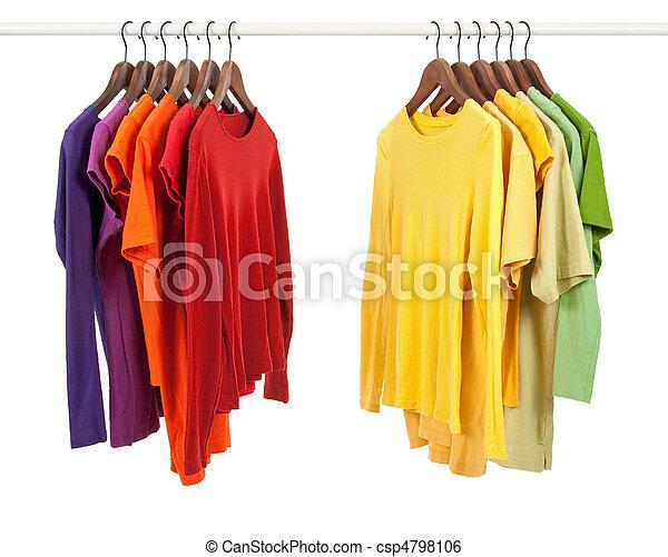 diferente, roupas, cores, escolha - csp4798106