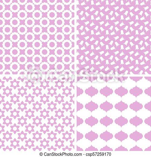 Diferentes patrones vectores sin costura. - csp57259170