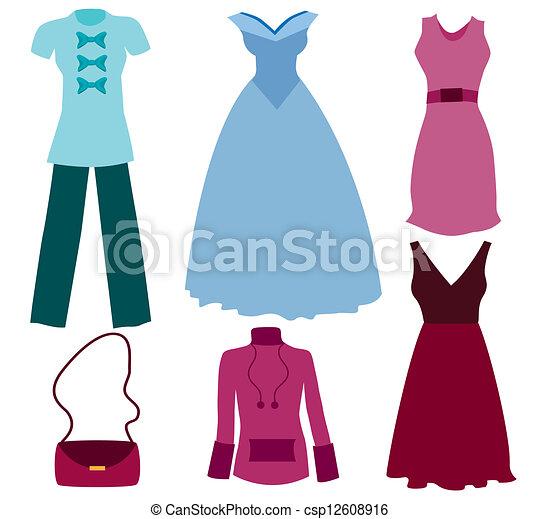 Vectores de diferentes ropas - csp12608916