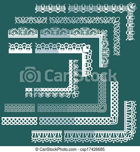 différent, éléments, ensemble, dentelle, cadre, -, bords, frontières - csp17426685