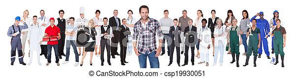 différent, divers, gens, métiers - csp19930051