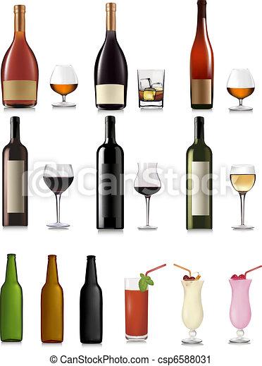 différent, ensemble, boissons - csp6588031