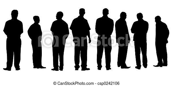 différent, hommes affaires, isolé - csp0242106