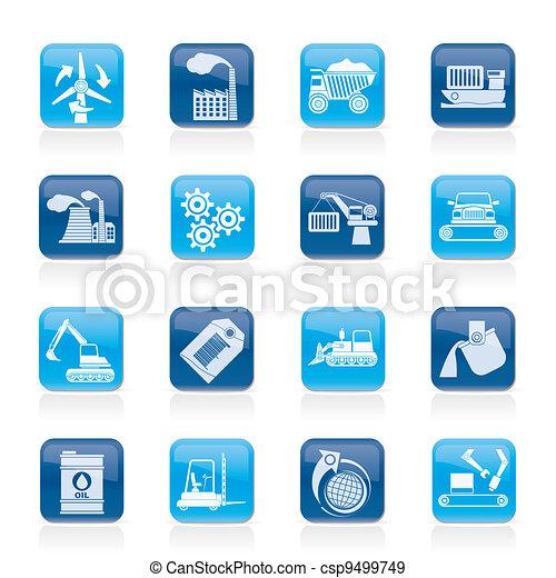 différent, industrie, espèce, icônes - csp9499749