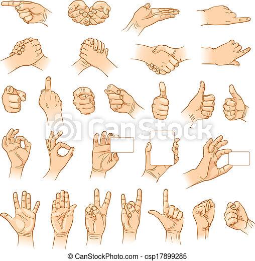 différent, interpretations, mains - csp17899285