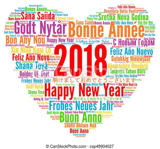 Diff rent langues 2018 ann e nouveau heureux - Bonne annee dans toutes les langues ...