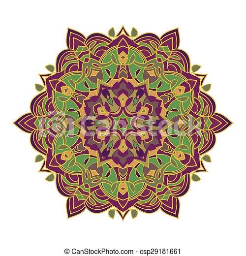 Différent Main Couleurs Zentangle élément Mandala Dessin