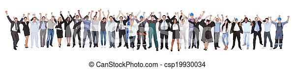 différent, reussite, gens, métiers, célébrer, excité - csp19930034