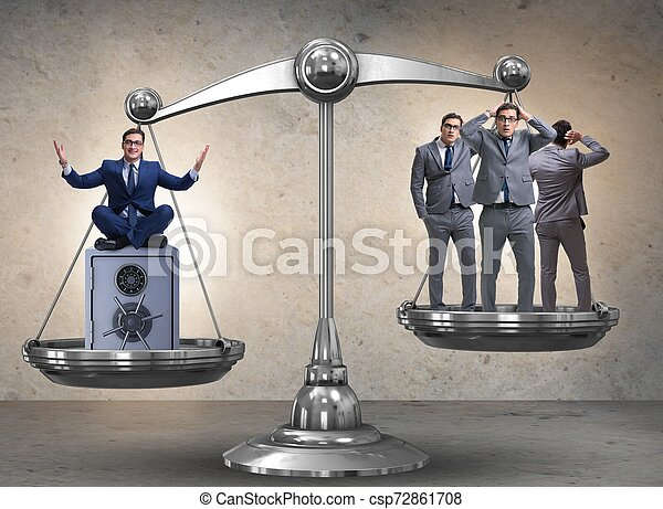 Difference between rich and poor people concept - csp72861708
