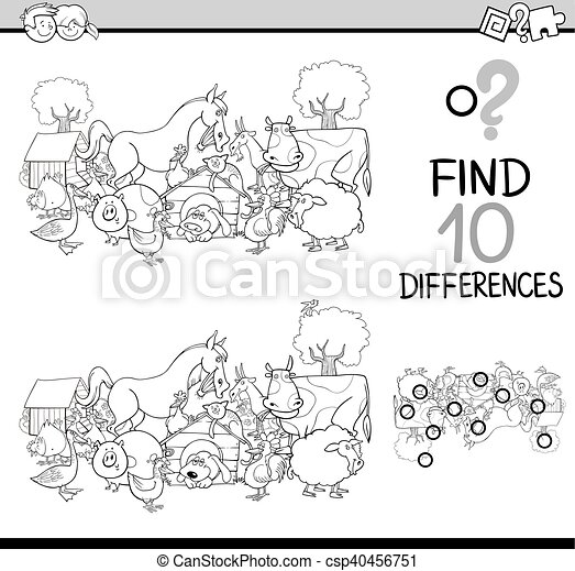 differences activity coloring book - csp40456751