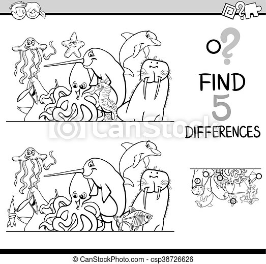 differences activity coloring book - csp38726626