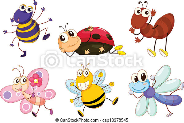 Different bugs and insects - csp13378545