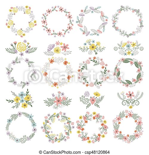 Different circle shapes with floral elements wedding frames vector different circle shapes with floral elements wedding frames vector set junglespirit Images