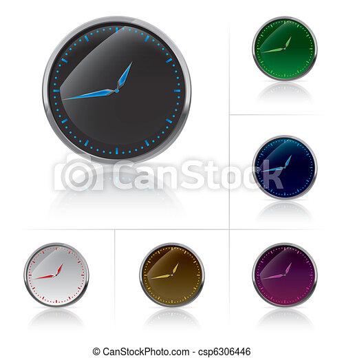Different colors clock set - csp6306446