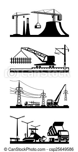 Different construction scenes - csp25649586