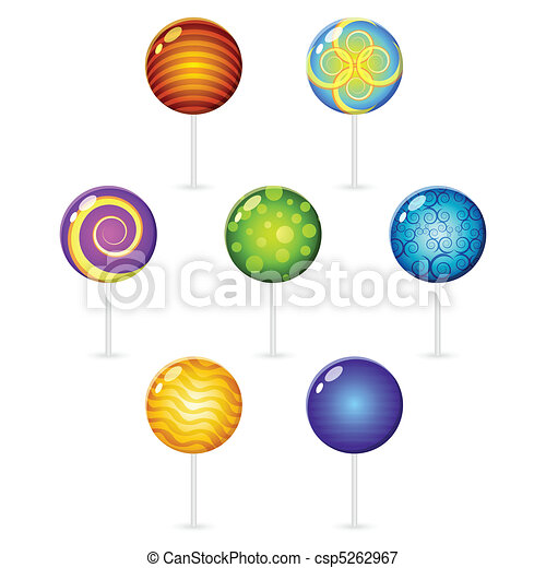 different decorated lollypops - csp5262967