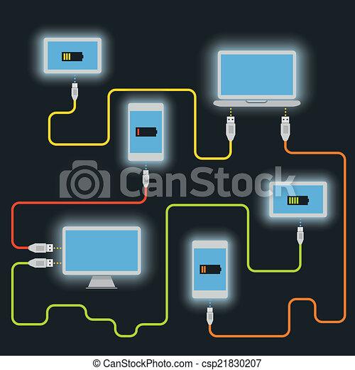 Different devices. Charging scheme - csp21830207