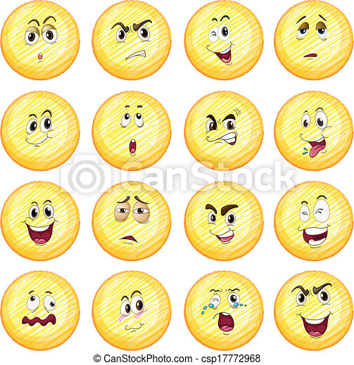different facial expressions illustration of the different facial rh canstockphoto com face expressions clip art facial expression clipart photos