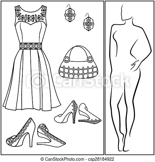 different female accessories accessories on different things dress