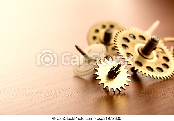 Different gears on the table - csp31972300