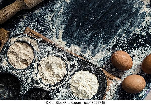 Different kind of flour - csp43095745