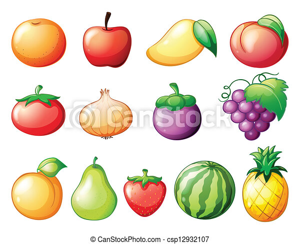 different kinds of fruits vector