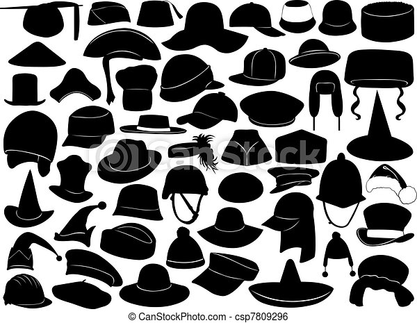 Different kinds of hats - csp7809296